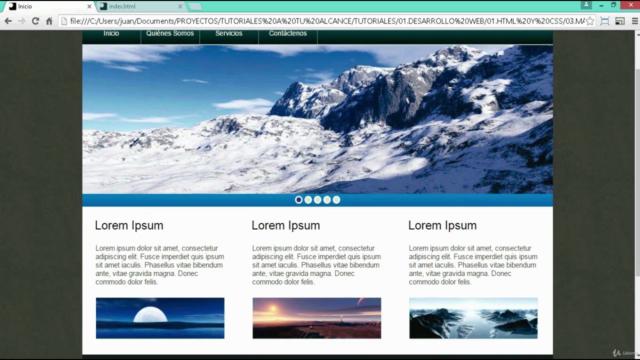 Curso de maquetación web de lo básico a lo avanzado