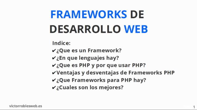 Introducción teórica a los frameworks de desarrollo para PHP