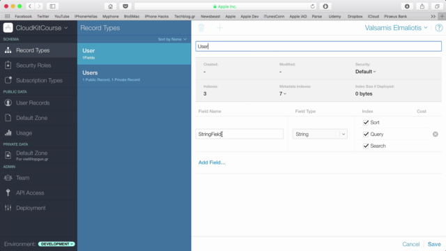 Create CloudKit applications using iOS 9 - Xcode and Swift