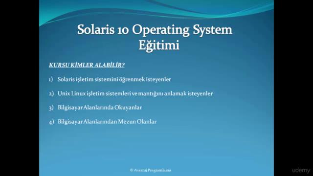 UNIX İşletim Sistemi Eğitimi